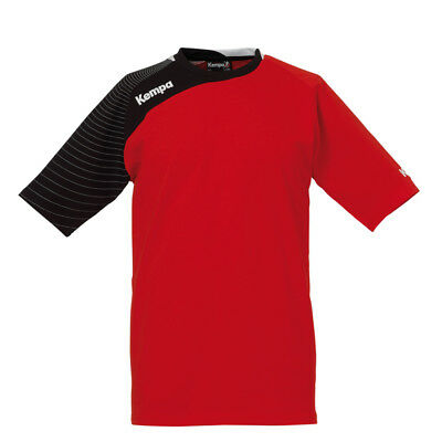 Kempa Circle Trainings T-Shirt Handball Herren Trikot rot/schwarz