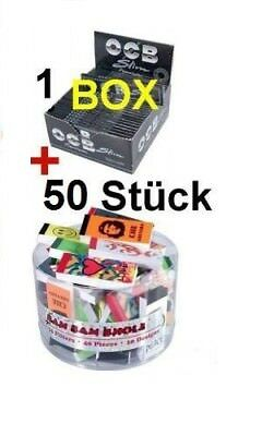 50 x OCB Premium Smoking Papers + 50 x Filtertips 2,0 x 6,0 perforiert in BOX