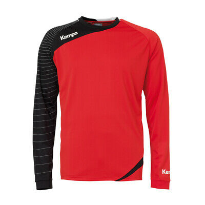 Kempa Circle Langarm Shirt Handball Herren Training Top rot/schwarz