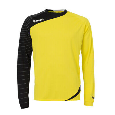 Kempa Circle Langarm Shirt Handball Herren Training Top gelb/schwarz