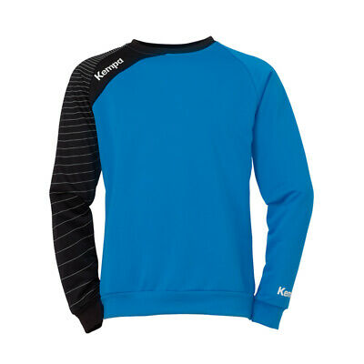 Kempa Circle Training Top Handball Herren Langarm Shirt blau/schwarz