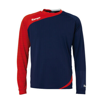 Kempa Circle Langarm Shirt Handball Herren Training Top dunkelblau/rot