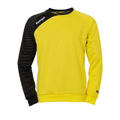 Kempa Circle Training Top Handball Herren Langarm Shirt gelb/schwarz