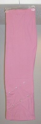 Plus Size Pink Lounge/Sweats Patchwork Grommets Knit Pull-on Pants 2X
