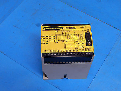 Banner MACP-1 Mini-Array Controller MACP1 RS-232 RS232