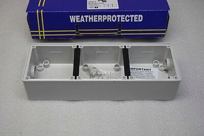 Box of 20 PS 56E3 Weather Proof Protected 3 gang 16 Point Mounting Box Enclosure