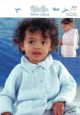 Baby & Child Knitting Pattern ~ Gorgeous Jacket with collar or hood - Peter Pan