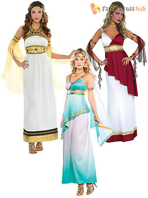 Size 8-22 Ladies Greek Roman Grecian Goddess Toga Fancy Dress Womens Costume