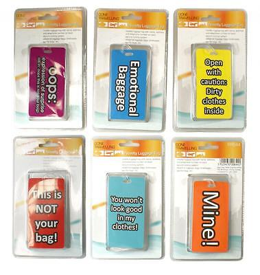 BoyzToys RY644 Gone Travellin' Novelty Luggage Tags in 6 Assorted Designs - New