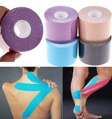 1 Roll 5m × 5cm Sports Muscles Care Kinesiology Physio Therapeutic Elastic Tape