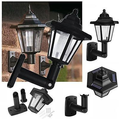 Hot LED Solar Powered Wall Lanterns Wall Light Lamp Outdoor Garden Fence Door