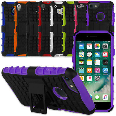 2 Layer Heavy Duty Tough Shockproof Case Cover With Stand For Your Mobile Phone
