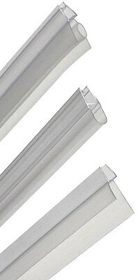 Bath Shower Screen Gap Seal Rubber Plastic Silicone Glass Door Curved Flat Pvc
