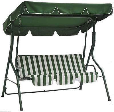Garden Swing Seat 3 Seater Hammock Outdoor Swinging Bench Chair Patio Green