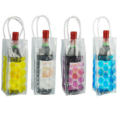 Wine Bottle Cooler Chiller Bag Gel Carrier Ice Chilling Cooling Party Gift Fun