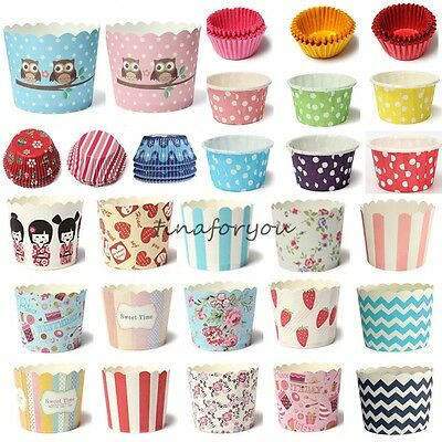 Christmas Party Mini Paper Cake Cup Liners Baking Cupcake Cases Muffin Cake Gift