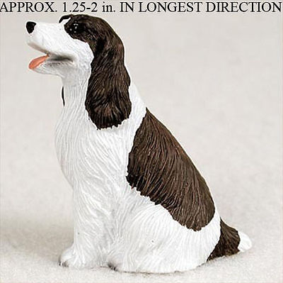 Springer Spaniel Mini Resin Dog Figurine Statue Hand Painted Liver