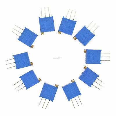 10pcs 3296W-103 3296 W 10K ohm Trim Pot Trimmer Potentiometer