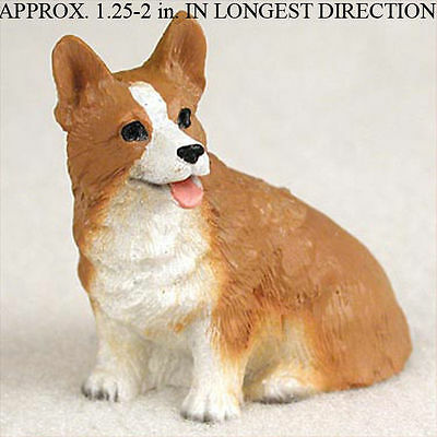 Welsh Corgi Mini Resin Hand Painted Dog Figurine Pembroke