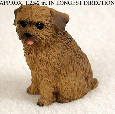 Norfolk Terrier Mini Hand Painted Figurine