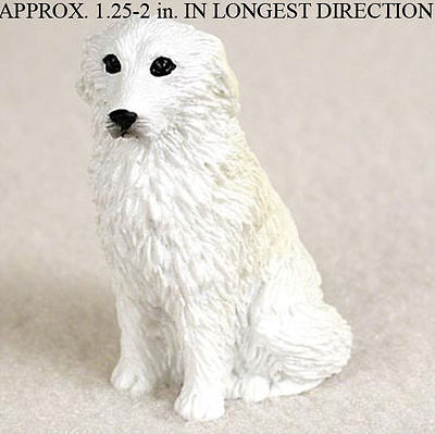 Great Pyrenees Mini Hand Painted Figurine
