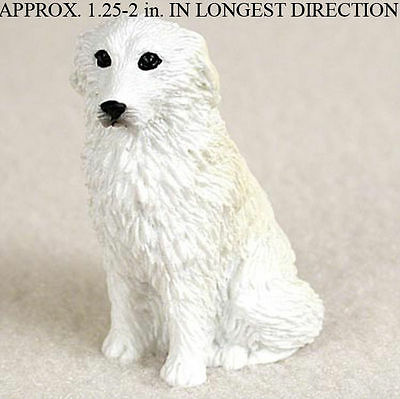 Great Pyrenees Mini Resin Hand Painted Dog Figurine Statue
