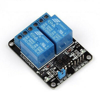 1pcs 5V 2--Channel Relay Module for Arduino PIC ARM DSP AVR Electronic