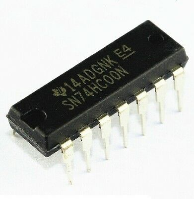 10Pcs Sn74Hc00N 74Hc00N Ic Quad 2-Input Nand Gate 14-Dip New