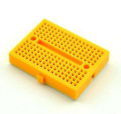 5pcs Yellow Solderless Prototype Breadboard 170 SYB-170 Tie-points for Arduino