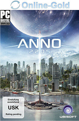 Anno 2205 Key - UPLAY Ubisoft Digital Download Code - PC Standard [NEU][DE][EU]