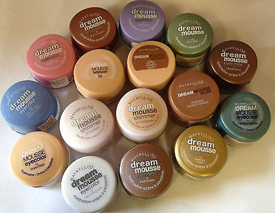 Maybelline Dream Mousse Eye Color Shadow /  Bronzer /  Face Illuminator *choose*