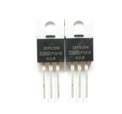 5PCS IRF530NPBF IRF530N Power MOSFET TO-220 IR NEW IC