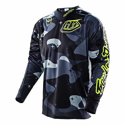 Troy Lee Designs TLD SE Cosmic MX Motocross Jersey Mens Camo Gray 30301290