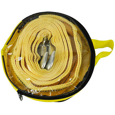 4.5M Tow Towing Pull Rope Strap Heavy Duty Road 5 Tonne 5T Car Van 4x4 Recovery