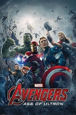 22x34 Marvel Avengers Age of Ultron Movie Poster Shrink Wrapped