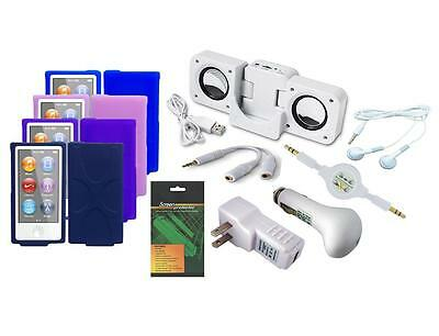 11 Item Accessory Bundle Combo Kit Set for Apple iPod Nano 7th Generation