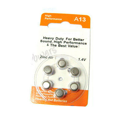 6 A13 13 PR48 7000ZD 1.4V Zinc Air Hearing Aid Battery