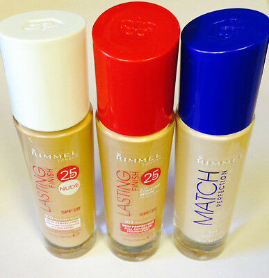 Rimmel Lasting Finish 25Hr /  Match Perfection Liquid Foundation *Choose Shade*