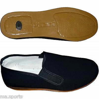 New Cimac Martial Arts Kung Fu Slippers Unisex Canvas Black Slipper Shoe Uk Size