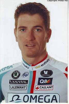 CYCLISME repro PHOTO cycliste FREDERIK WILLEMS équipe OMEGA PHARMA 2011