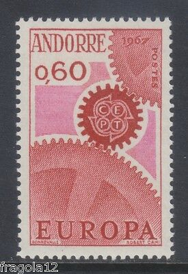French Andorra 1967 - Europa - C. 60 - Mnh
