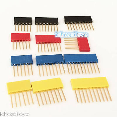 10Pcs Female Tall Stackable Header Connector Socket Arduino Shield 4-Color PC104