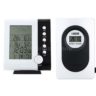 433MHz Outdoor/Indoor Digital Thermometer Hygrometer Weather Station Clock 3HH0