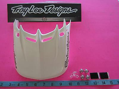 Troy Lee Designs TLD Moto Ace Universal Helmet Replacement Visor White 0670-0100