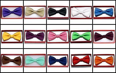 Solid Color Toddler Bow Ties for Boys Girls Kid Child School Picture Wedding