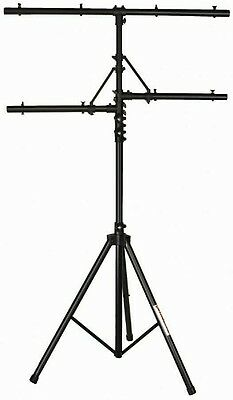 Stageline SLS1 Deluxe Heavy-Duty Aluminum Lighting Stand - Anodized Black