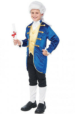 Child Blue Aristocrat George Washington Colonial Costume Boys Jacket Knickers