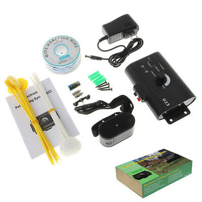 Dog Pet Waterproof Ground Electronic Wireless Fence Containment System US Plug
