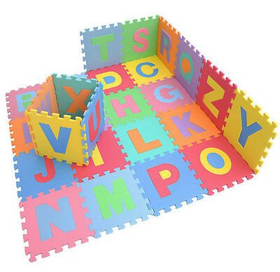 Child Soft EVA Foam Play Mat Alphabet Numbers GYM Puzzle DIY Toy floor tile Game
