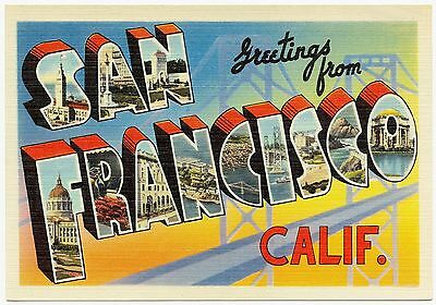MAGNET Greetings From Photo Magnet SAN FRANCISCO California 1930s Travel